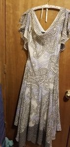 "Flowing ""Crepe"" Paisley Boho Style Dress"